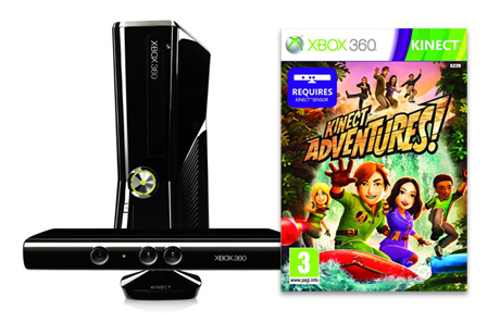 xbox WIN! An Xbox 360 + Kinect + Kinect Adventures game