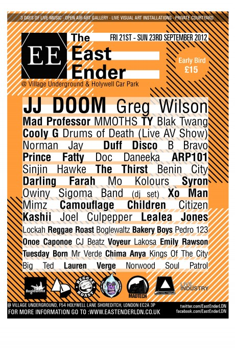 FINAL EAST ENDER FLYER 460x680 Event: The East Ender Festival Flyer