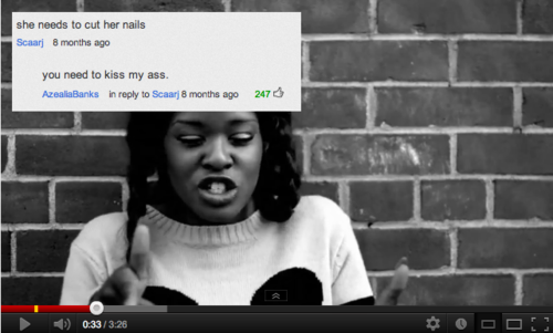 tumblr m8s7nmJqUp1r3811yo1 500 Top 10 Best Azealia Banks Moments
