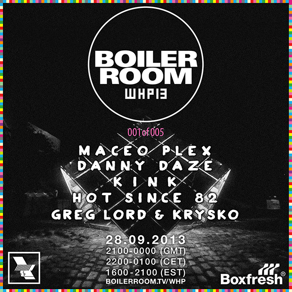 WHP x Boiler Room x Boxfresh