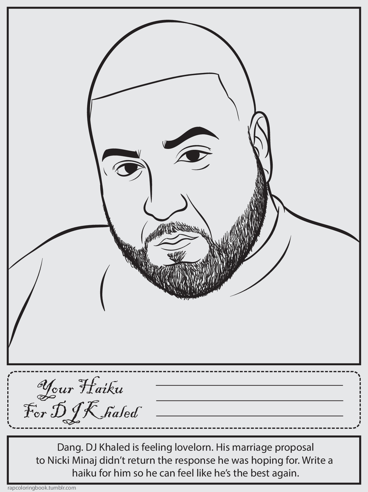 dj khaled bun b rap coloring book - Rap Coloring Book