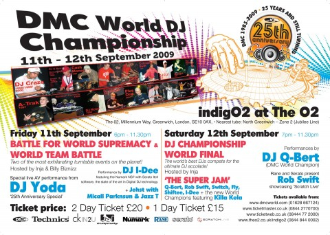 Win 2 weekend passes to the 25th Anniversary of The World DMC Finals + Qbert & DJ Yoda