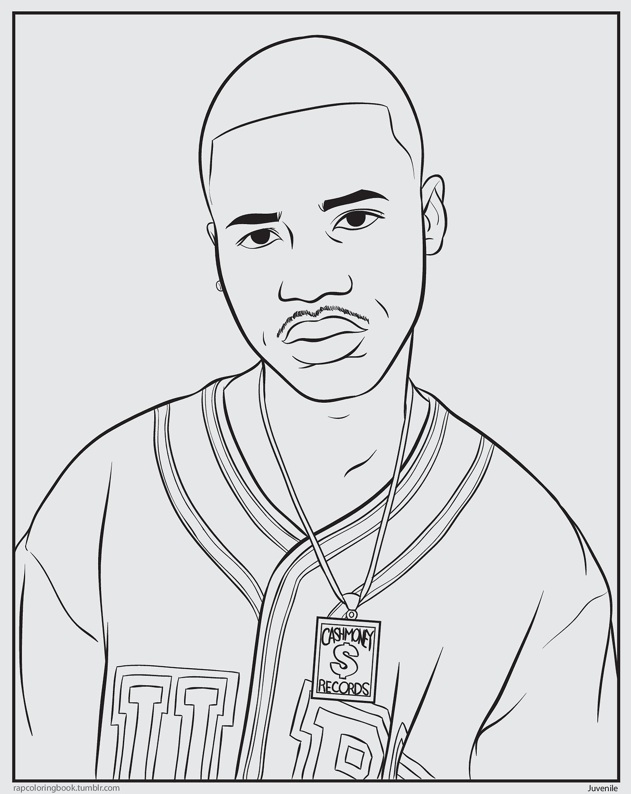 Review bun b 39 s rap coloring book friedmylittlebrain for Rapper coloring pages