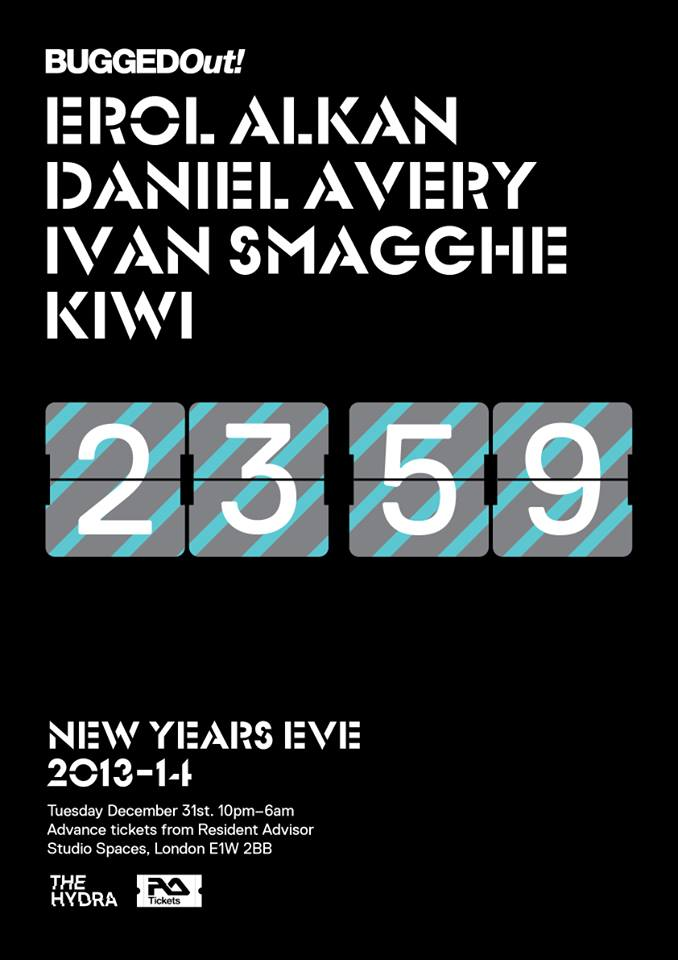 The Hydra: Bugged Out NYE with Erol Alkan, Daniel Avery, Ivan Smagghe, Kiwi at Studio Spaces - Wapping